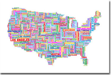 US Map Cities